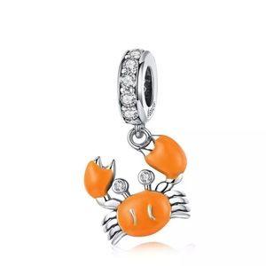 CRAB SILVER DIAMOND CHARM FOR PANDORA BRACELET